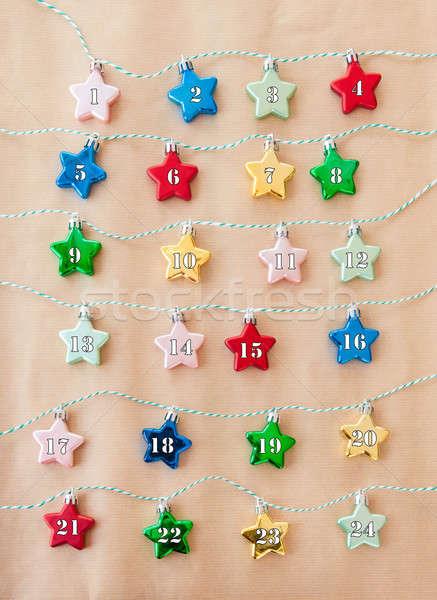 Colorful stars on brown paper Stock photo © BarbaraNeveu