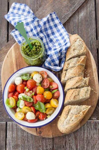 Vers tomaat salade kaas kleurrijk mozzarella Stockfoto © BarbaraNeveu