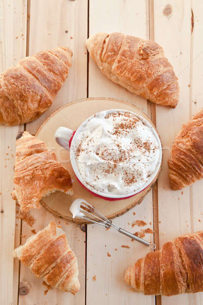 Fresh croissants and coffee Stock photo © BarbaraNeveu