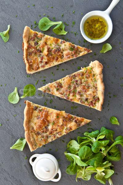 Foto stock: Alface · peça · fresco · comida · coração · Óleo