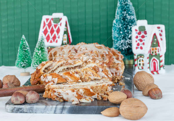 Homemade nut cake Stock photo © BarbaraNeveu