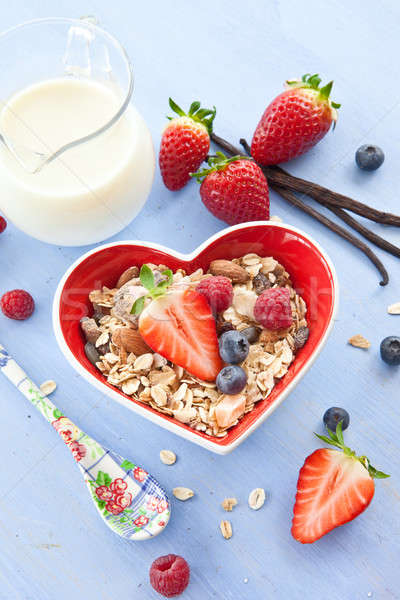 Muesli with fresh berries Stock photo © BarbaraNeveu