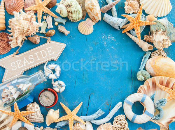 Capeado decoraciones mar conchas playa Foto stock © BarbaraNeveu