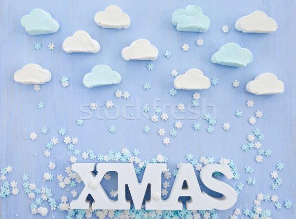 雲 スノーフレーク 空 雪 冬 ストックフォト © BarbaraNeveu