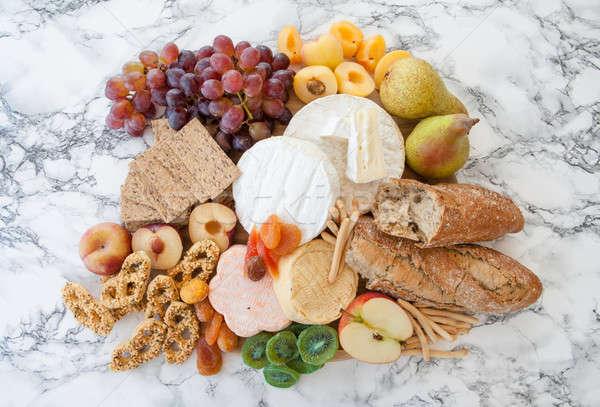 Foto stock: Suave · frescos · frutas · manzana · queso · brillante
