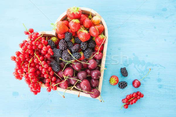 Fresh red berries Stock photo © BarbaraNeveu
