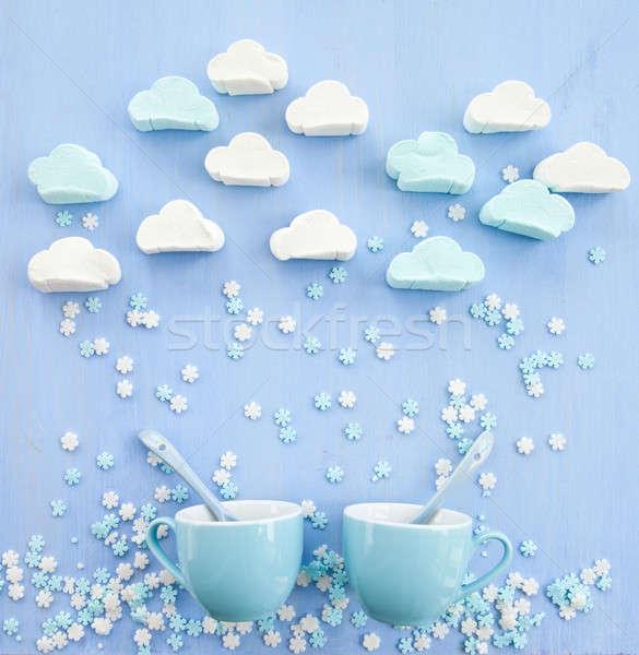 Nuvem formas raio flocos de neve nuvens Foto stock © BarbaraNeveu