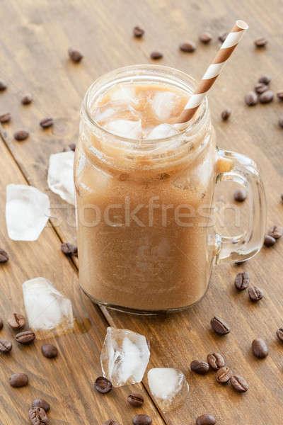 Gelado café vintage jarra leite beber Foto stock © BarbaraNeveu