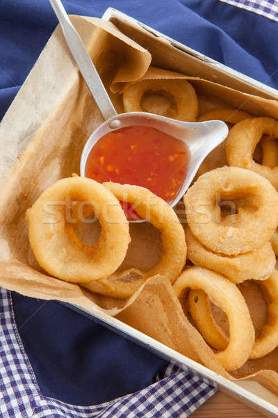 Fresh onion rings Stock photo © BarbaraNeveu