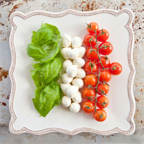 Ingredients for Caprese Salad Stock photo © BarbaraNeveu