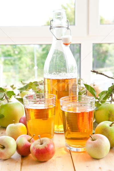 Zumo de manzana frescos manzanas variedad orgánico alimentos Foto stock © BarbaraNeveu