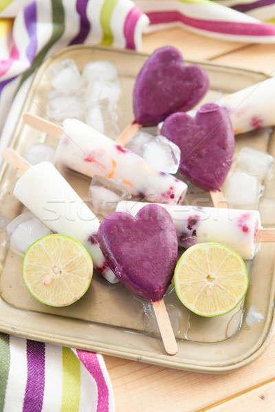 Homemade popsicles Stock photo © BarbaraNeveu