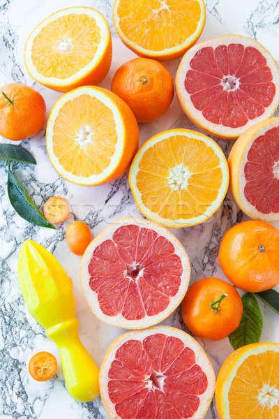 Frescos agrios frutas maduro jugo Foto stock © BarbaraNeveu