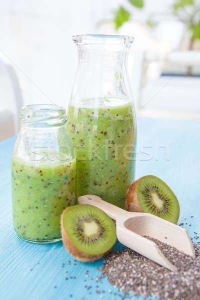 グリーンスムージー キウイ 新鮮な 緑 ドリンク ボトル ストックフォト © BarbaraNeveu