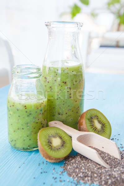 Green Smoothie with Kiwi Stock photo © BarbaraNeveu