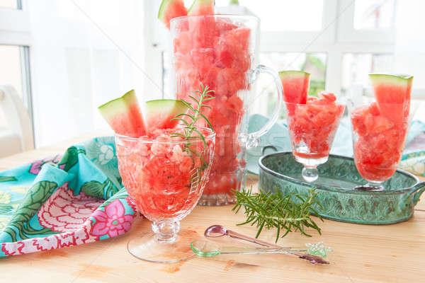 Fresche acqua melone alimentare frutta Foto d'archivio © BarbaraNeveu
