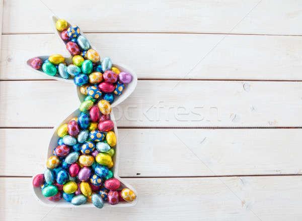 Colorful chocolate eggs for easter Stock photo © BarbaraNeveu