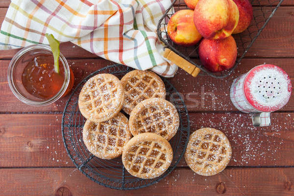 Little peach pies made with short crust Stock photo © BarbaraNeveu