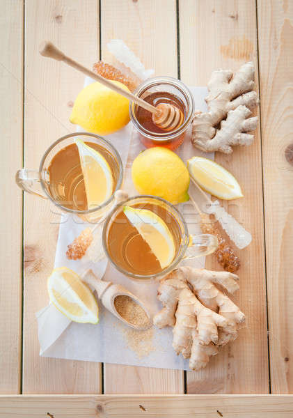 Freshly brewed ginger tea Stock photo © BarbaraNeveu