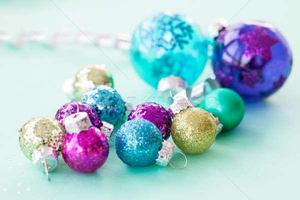 Colorful christmas baubles Stock photo © BarbaraNeveu
