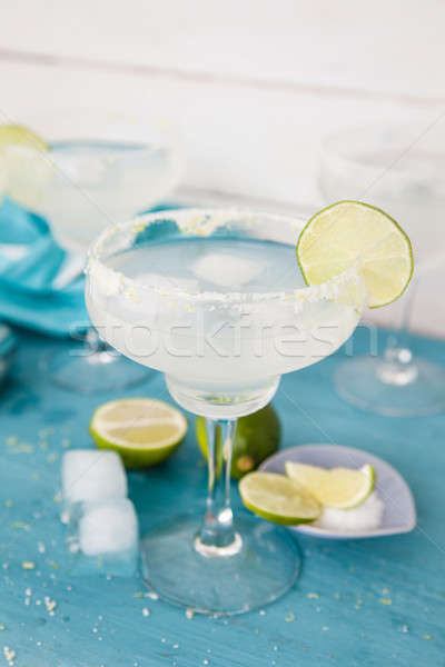 Ice cold margarita cocktail Stock photo © BarbaraNeveu
