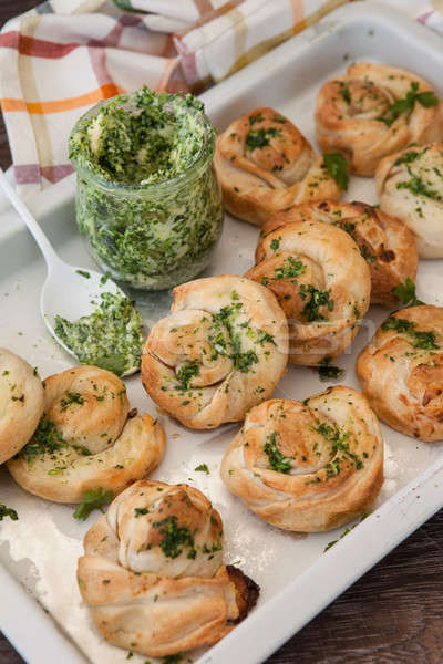 Savoury snack made from puff pastry Stock photo © BarbaraNeveu