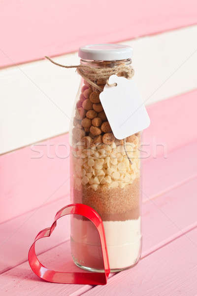 Vintage bottle with cookie mix Stock photo © BarbaraNeveu