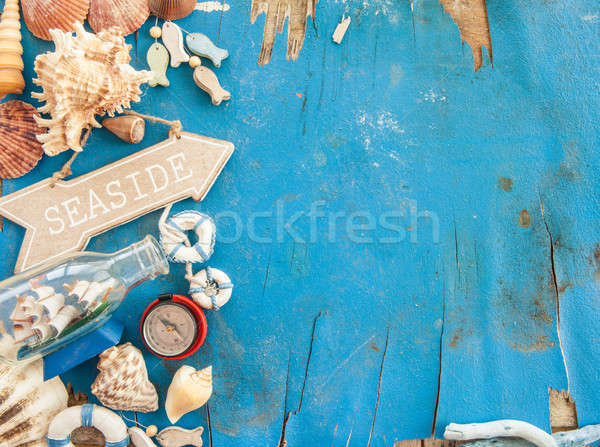 Weathered wooden background  Stock photo © BarbaraNeveu
