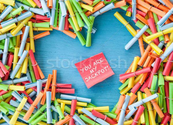 Colorful ruffle tickets Stock photo © BarbaraNeveu