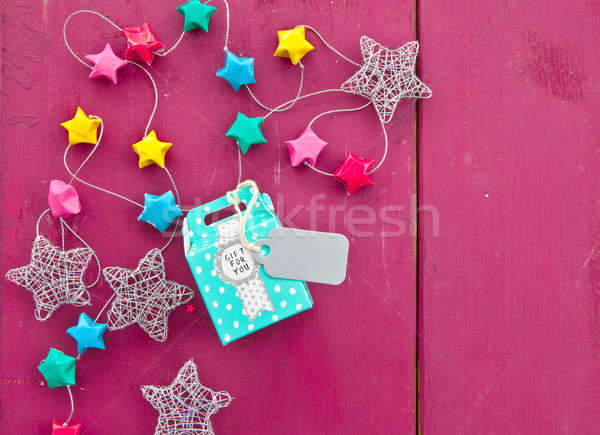 Stock photo: Little colorful present