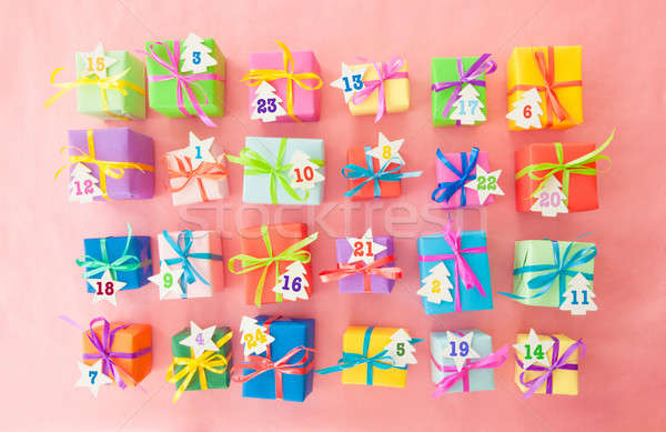 Stock photo: Many colorful gift boxes