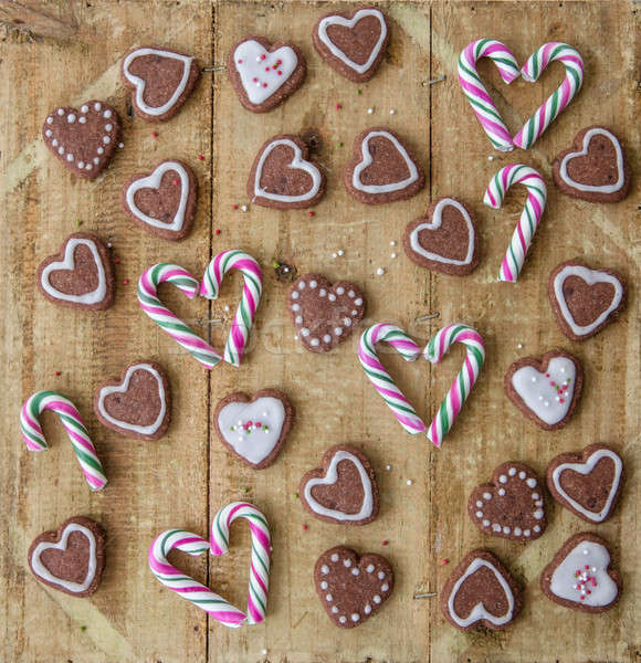 Candy and cookies for christmas Stock photo © BarbaraNeveu