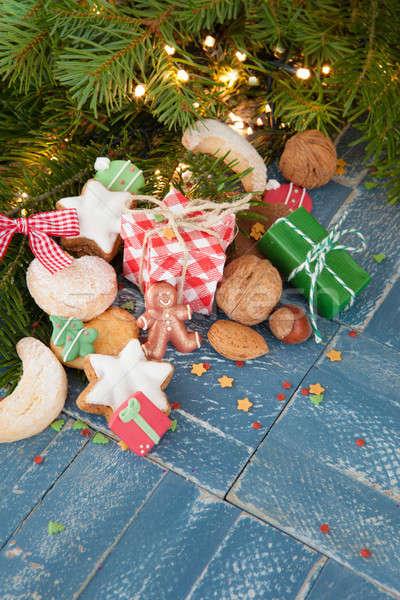 Christmas cookies and nuts Stock photo © BarbaraNeveu