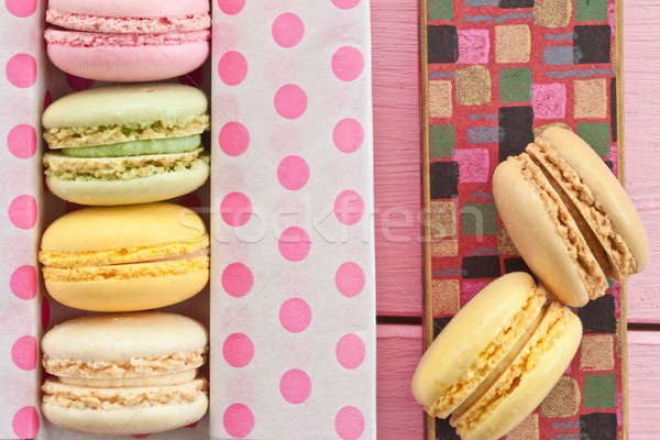 Colorful macarons Stock photo © BarbaraNeveu
