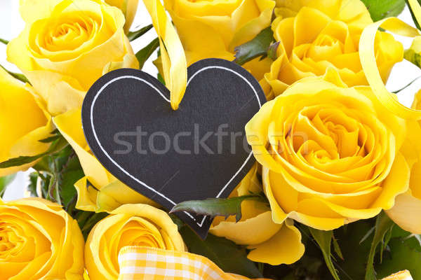 Fresh yellow roses Stock photo © BarbaraNeveu