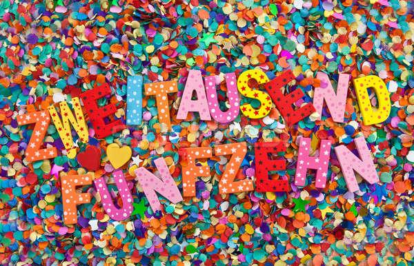 2015 конфетти красочный звездой Сток-фото © BarbaraNeveu