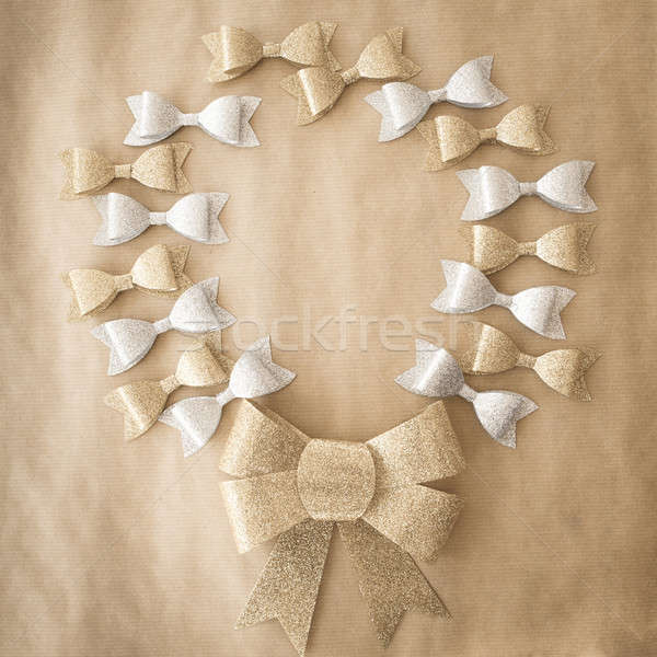 Bows in gold and silver Stock photo © BarbaraNeveu