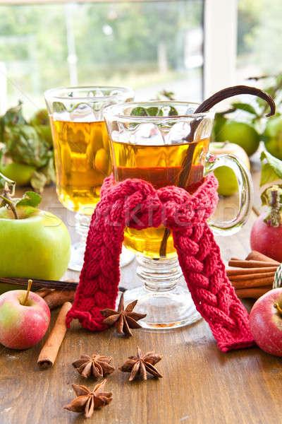 Hot cider specerijen appel winter appels Stockfoto © BarbaraNeveu