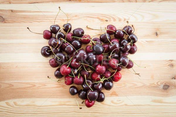 Cherries in heart shape Stock photo © BarbaraNeveu