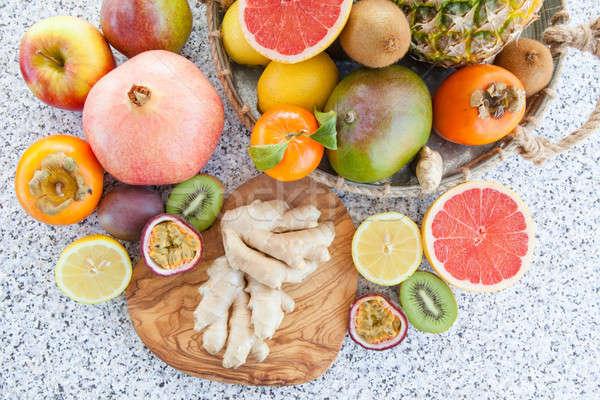 Fresh exotic fruits Stock photo © BarbaraNeveu