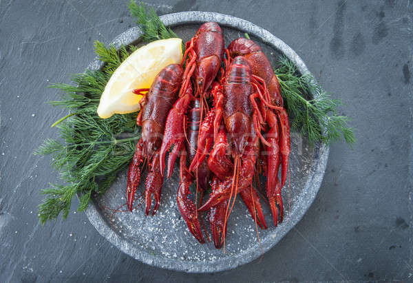 Fresh boiled crayfish Stock photo © BarbaraNeveu