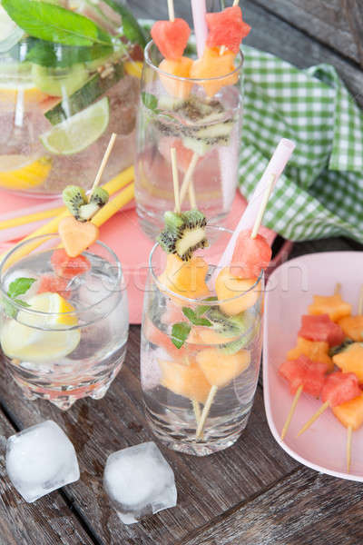 Ice cold drink with fruits Stock photo © BarbaraNeveu