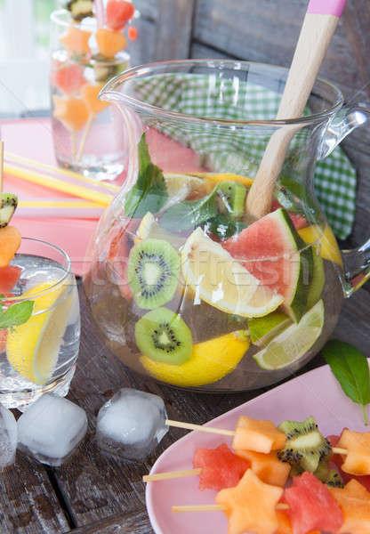 Limonade fraîches fruits maison glace eau Photo stock © BarbaraNeveu