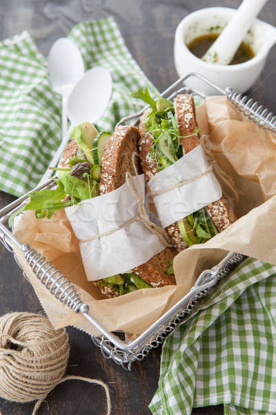 Whole wheat bread with avocado Stock photo © BarbaraNeveu