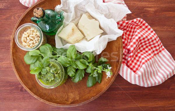 Fresh pesto with basil Stock photo © BarbaraNeveu