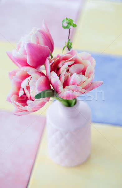 Bunch of pink tulips Stock photo © BarbaraNeveu