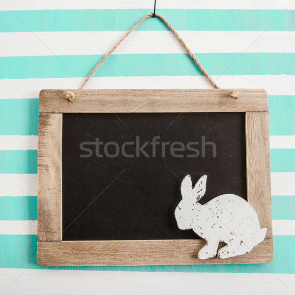 Rustic chalkboard on stripes Stock photo © BarbaraNeveu