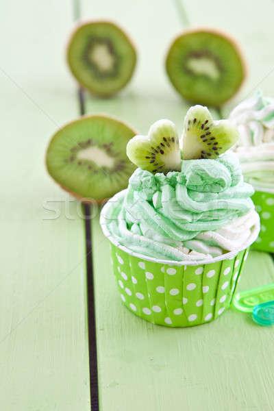 Fagyott joghurt friss kiwi vanília pötty Stock fotó © BarbaraNeveu