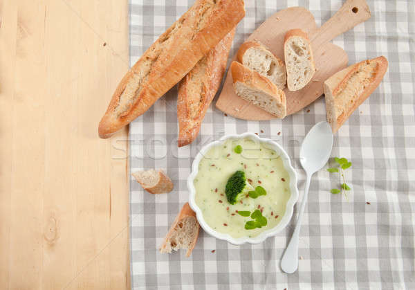 Homemade creamy broccoli soup Stock photo © BarbaraNeveu