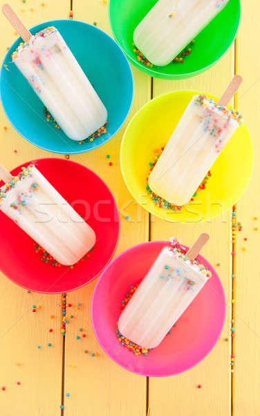 Frozen popsicles with sprinkles Stock photo © BarbaraNeveu